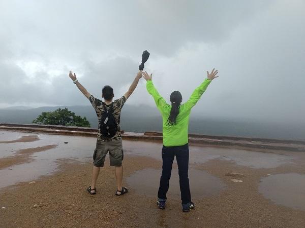 En la cima de Sigiriya