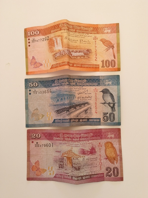 Monedas Sri Lanka