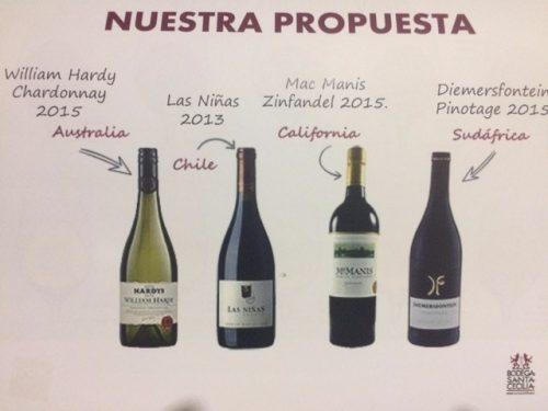Propuesta cata de vinos